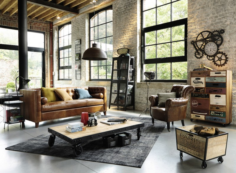 industrie chic wohnen wie im loft lionshome. Black Bedroom Furniture Sets. Home Design Ideas