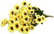 1 Piece Artificial Simulation Sunflower Plant with 54 Flower Heads Decoration - Yellow
