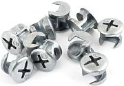 10 PC versilbern Ton-Leiter Möbel Connecter Cam Lock Fittings