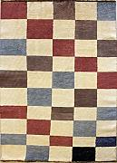 114x170 Gabbeh Area Rug with Wool Pile - Gabbeh Design | 100% Original Hand-Knotted Multicolored | a 122 x 183 Rectangular Rug