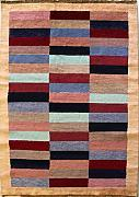 119x180 Gabbeh Area Rug with Wool Pile - Gabbeh Design | 100% Original Hand-Knotted Multicolored | a 122 x 183 Rectangular Rug