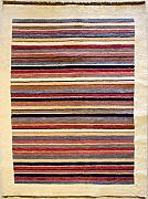 119x188 Gabbeh Area Rug with Wool Pile - Gabbeh Design | 100% Original Hand-Knotted Multicolored | a 122 x 183 Rectangular Rug