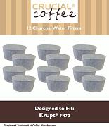 12 Style Krups F472 Holzkohle Wasserfilter, Fits FMF, FME, 629, 619, 180, 176, 467 466 &, Design & entworfen von Crucial Coffee