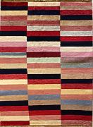 122x180 Gabbeh Area Rug with Wool Pile - Gabbeh Design | 100% Original Hand-Knotted Multicolored | a 122 x 183 Rectangular Rug