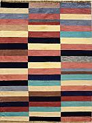 122x183 Gabbeh Area Rug with Wool Pile - Gabbeh Design | 100% Original Hand-Knotted Multicolored | a 122 x 183 Rectangular Rug