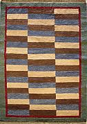 122x185 Gabbeh Area Rug with Wool Pile - Gabbeh Design | 100% Original Hand-Knotted Multicolored | a 122 x 183 Rectangular Rug