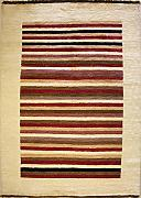 122x188 Gabbeh Area Rug with Wool Pile - Gabbeh Design | 100% Original Hand-Knotted Multicolored | a 122 x 183 Rectangular Rug