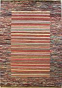 124x178 Gabbeh Area Rug with Wool Pile - Gabbeh Design | 100% Original Hand-Knotted Multicolored | a 122 x 183 Rectangular Rug