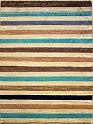 135x196 Gabbeh Area Rug with Wool Pile - Gabbeh Design | 100% Original Hand-Knotted Multicolored | a 137 x 213 Rectangular Rug