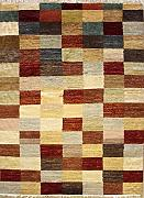 137x196 Gabbeh Area Rug with Wool Pile - Gabbeh Design | 100% Original Hand-Knotted Multicolored | a 137 x 213 Rectangular Rug
