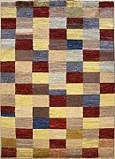 137x206 Gabbeh Area Rug with Wool Pile - Gabbeh Design | 100% Original Hand-Knotted Multicolored | a 137 x 213 Rectangular Rug