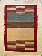 185x262 Gabbeh Area Rug with Wool Pile - Gabbeh Design | 100% Original Hand-Knotted Multicolored | a 183 x 274 Rectangular Rug