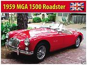 Produktbild: 1959MGA 1500ROADSTER, British rot Sport Auto. Covertable/Soft Top. Für Haus, Home, Garage, Man Cave oder Pub. Metall/Stahl Wandschild, stahl, 20 x 30 cm