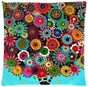 Produktbild: 1WillLoanestore 18 x 18 inches Mexican Style Tree Flower Floral Burlap Pillow Cover