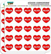 2,5 cm (2,5 cm) Scrapbooking, Aufkleber I love Herz Namen Stecker M Mac Major