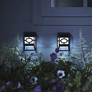 2er Set LED Zaun Solarleuchten Wandleuchten Gartendeko Lights4fun