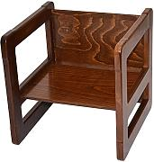 3 in 1 Childrens Furniture One Small Multifunctional Chair or Table Beech Wood, Dark Stained