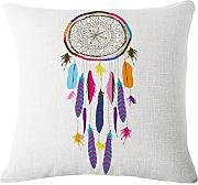 Produktbild: 45X45cm Kissenbezug,Kingko® Dream Catcher Baumwoll Leinen Kissenbezug Kissenbezug Home Sofa Bed Car Decor(Gray) (A)