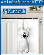 produktbild 4er set wenko luftbefeuchter kitty keramik. Black Bedroom Furniture Sets. Home Design Ideas