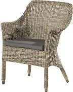 4Seasons Outdoor Galleria dining Sessel Polyrattan Pure Loungesessel inkl Kissen