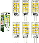 6X MENGS® G4 5W AC/DC 12V LED Lampe 51x2835 SMD Leuchtmittel Mit Keramic und ACRYLIC Material (480LM, Warmweiß 3000K , 360? Abstrahlwinkel, Ø16 x 45mm)
