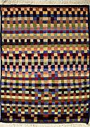 74x119 Gabbeh Area Rug with Wool Pile - Gabbeh Design | 100% Original Hand-Knotted Multicolored | a 76 x 122 Rectangular Rug