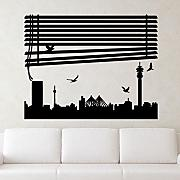 Ambiance-Live Wandtattoo View-Fenster - 40 x 50 cm, Bordeauxrot