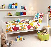 produktbild aminata kids bettw sche 135x200 baumwolle tiere frosch jungen und m dchen. Black Bedroom Furniture Sets. Home Design Ideas
