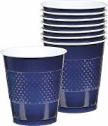 Produktbild: Amscan International Kunststoffbecher, 355 ml, Navy Flag Blue