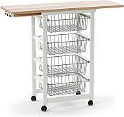 Küchenwagen Weiss günstig online kaufen   LIONSHOME   {Küchenwagen metall 70}