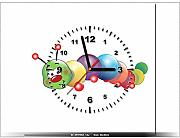 art-gallery XXL – 40 x 40 cm – Die Raupe – Wanduhr Tabelle – Deco Moderne – New Design