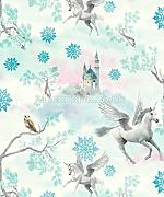 Produktbild: Arthouse Imagine Fun Fairytale Ice Blau Tapete 667800 - Glitzer Kinder