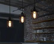 Arts Lampe Platz Retro Restaurant Bar American Village Restaurant Industrie Creative Edison Kreis Kronleuchter Single-head chandelier