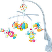Baby Fehn 70´s Stripes Musik-Mobile Hase (Rock a Bye Baby) [Babyspielzeug]