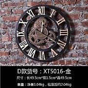 BABYQUEEN WALL CLOCK Retro Wanduhr Industrial Stil Getriebe Dekoration Wand Uhr Kreative Bar Café Wanddekoration D