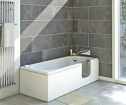 badewanne mit t r g nstig online kaufen lionshome. Black Bedroom Furniture Sets. Home Design Ideas