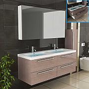 Badezimmermöbel doppelwaschbecken  Badmöbel Doppelwaschtisch günstig online kaufen | LIONSHOME