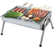Barbecue Grill, Portable Holzkohle Barbecue Camping Outdoor BBQ Utensil - 48x33x24cm