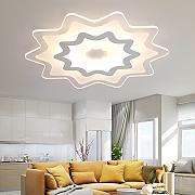 Baredury Moderne Acryl Slim Decke Licht Kreative Personalisierte Wohnzimmer Lampe Besondere Form Einzigartiges Schlafzimmer Deckenleuchte