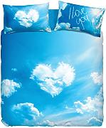 Produktbild: Bassetti Imagine.-Set Bettbezug Love is a dream 155_x_200_cm blau