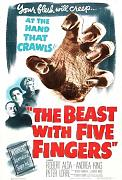 Beast With Five Fingers Poster 01 Canvas A2 large 42x60cm Box Canvas Print 16x24 inch