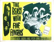 Beast With Five Fingers Poster 02 Metal Sign A4 12x8 Aluminium
