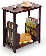 beistelltisch mit zeitungsst nder g nstig online kaufen lionshome. Black Bedroom Furniture Sets. Home Design Ideas