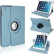 Produktbild: Best Style Premium 360 Degree rotation Quality Light Blue Horizontal & Vertical View Leather Cover For Apple iPad Air