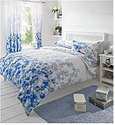 blumen bettw sche blau g nstig online kaufen lionshome. Black Bedroom Furniture Sets. Home Design Ideas