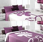 bett berwurf violett g nstig online kaufen lionshome. Black Bedroom Furniture Sets. Home Design Ideas
