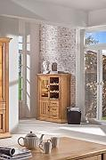 BFK Möbel Collection Beverly Weinschrank  Holz braun 39x105x130 cm