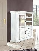 BFK Möbel Collection Brooklyn Weinschrank  Holz grau 39x105x130 cm