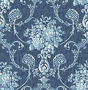 "Produktbild: BHF fd22748 ""Mirabelle Cameo Damast Winsome Floral Tapete - Blau"