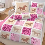 pferde bettw sche biber g nstig online kaufen lionshome. Black Bedroom Furniture Sets. Home Design Ideas